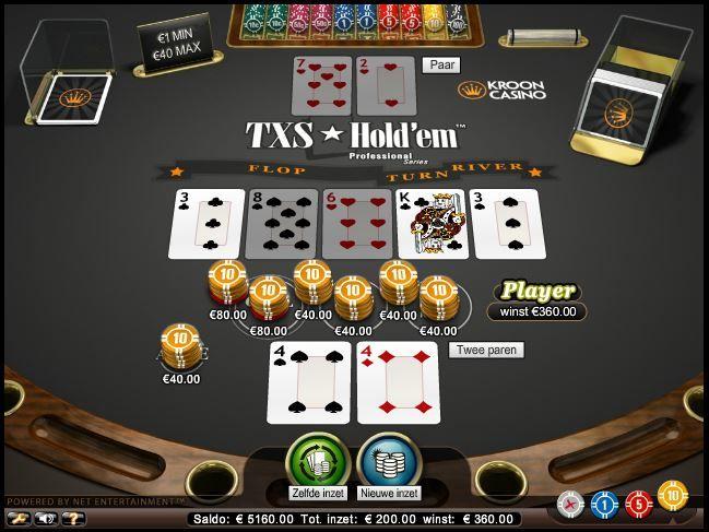 Texas Holdem spelen